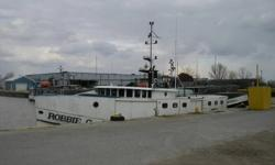 65ft.x22ft.beam great lakes commercial fishing boat,50 Hrs.on 6cyl. cummings rebuilt Nov.2011 ($12,500).2 generators Westebeke mailto:63B(15kw ) and mailto:Lister(8.6kw ) , plus net puller,Furnace,approx.$30,000.00 worth of electronics,life boat,2x3000