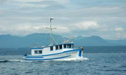 """Must sell, reasonable offers will be considered! The Pacific Susan is a well maintained converted double-ender troller. This reliable old girl was built with a red cedar hull on oak frames by Buford Haines in aprox. 1955. 35'6"""" LOA, beam 10'6"""", aprox."""