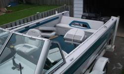 1994 Crestliner Sportfish with 1991 Evinrude 150 for sale...Great set up on this boat ..Made for fishing or tubing.Great boat for the whole family   Has 4 pedestal seats and rear bench.....Conversion bow...Full stand up top and full travel cover...Motor