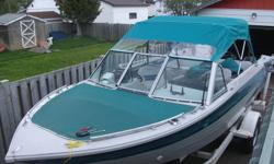 1994 Crestliner Sportfish with 150 evinrude...Its an 180 sport fish..Boat has the 150 evinrude not the 120 johson...Boat comes wtih full stand up top , full travel cover, four pedestal seats, and rear bench...Has livewell, , bow converts to a fishing