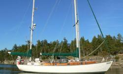 """""""S/V Mikasa"""" is a terrific offshore center cockpit sailor that will turn heads dockside or underway. """"S/V Mikasa"""" features Awlgrip white hull, nicely equipped galley, BEAUTIFUL Harken gear, Espar heating and warm interior any family would love. Custom"""