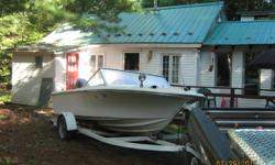 1980 16 ft. fibreglass cutter with trailer and 80 H.P. mercury motor.