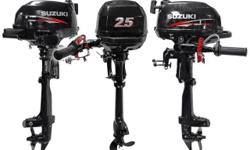The Suzuki DF2.5 portable outboard is the smallest Suzuki 4-stroke to date. Weighing just 30 pounds, the DF2.5 is the lightest Suzuki 4-stroke motor ever built. Suzuki is also proud to note that the DF2.5 meets the rigorous EPA 2010 and CARB 3-Star Ultra