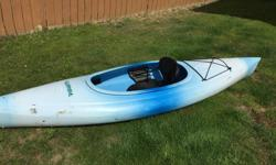 "DIMENSIONS ESCAPADE KAYAK, $300 Good condition, 9.5"" L x 29"" W, weighs 39 pounds,weight capacity is 275 lb. It has foot rests, a comfortable seat, some cargo space and a paddle. It is a great kayak for beginners to intermediate level and a lot of fun on a"