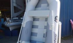 "Aqua Marina Deluxe 8'2"" Inflatable Boat BT-88810-1 NEW Regular price $999 / Fall '17 Promo price $849 Compact, lightweight, economical inflatable boat great for ship to shore tender or use as a portable pleasure craft Sets up in just a few minutes Made"