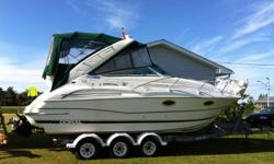 I?m selling my Doral 250 SE Platinum edition. The boat spent most of its life in covered storage and has not spent more than the odd weekend in the water at a time. The boat was meticulously maintained. It was pulled from the water, cleaned, and flushed