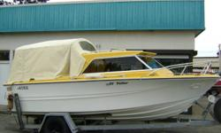 Double Eagle Deep V Hull 19.5ft 1974 w/ 6.5ft Beam and 318 Chrysler & Volvo Leg   Reduced for Christmas - Must sell!! $3900 Phone Ryan (323) 770-4205 for more info and viewing.   Hard top in good shape, canvas is decent. Ideal commuter; original