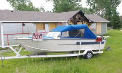 23 FOOT CRESTLINER FISHING BOAT ALUMINUM TANDUM TRAILER EQUIPED WITH FISH FINDER DEPTH FINDER RADIO DOWN RIGGERS FISHING RODS ANCHOR FISHING NET GPS NEW CANVAS TOP NEW INTERIOR FLOORING CALL IF INTERESTED 705-566-3871   B/O