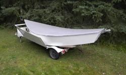14'  O'BRIEN DRIFT BOAT - 3 person drift boat with fibreglass bottom - comes with custom cover, trailer, spare oars & anchors - located in Williams Lake area - excellent condition, priced to sell @ $2000.00 Call Walter at 250-296-4669 for more information