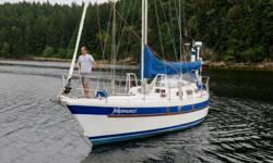 """""""Jekamanzi"""" formerly """"Salty Dog II"""" was the first of the Pratique 35s to be built. She was commissioned in South Africa and has numerous Atlantic and Pacific Ocean crossings to her credit. """"Clean decks combined with a cutter rig and a wide variety of"""