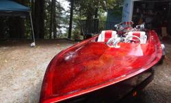 1979 Eliminator Jet Boat, 520 cu.in. Ford Engine. Complete Scat Forged & Balanced Stroker Rotating Assembly. Performer Intake Manifold with Holley HP 950 CFM Carb. MSD 6M-2L Marine Ignition with Rev Limiter. MSD Blaster 2 Coil. Crane Solid Lifter Cam, all