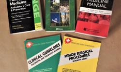 Round the world sailor? Vacationing in Mogadishu? Zombie invasion? What do experts carry? Be prepared with this suite of urgent care medicine classics, all with water-resistant covers: 1. MSF Minor Surgical Procedures for Remote Areas - 1st ed; 2 MSF