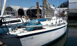 1970's boat, with a yanmar 2 cyl. diesel,roller furling, stereo, new head, propane 4 burner stove, auto helm, wheel steering with Tiller back up, tons of winches and lines, mast has been just re-installed and sails are on. boat is running and in the