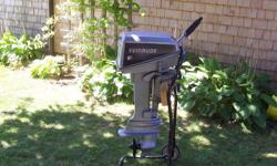 1987   6 HP evinrude Outboard Motor ,has forward ,neutral & reverse gears ,very good condition,very good working motor, includes gas tank & owners manual  $500.00 ( Sorry Price is  Firm)