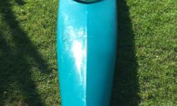 Great condition, lightly used. Green-blue colour for a single kayak, perfect for use at the cottage or a recreational paddler. Paddle included.