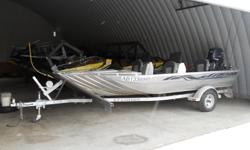 Barely Used 2008 Explorer 162DC Jet Boat. Manufactured by Explorer Industries in Edmonton, AB. Comes with Yamaha 60/40 Jet (approx 64hrs); EZLoader 15-16' Trailer, galvanized. Custom built (by owner) Stone Guard on Trailer. Front console Jump Seats..this