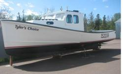"Fiberglass Fishing Boat, 42' long, 14' beam, 10' stern and 3' 6"" draft. Hull is solid glass, wheel house, front cabin, washboards and floors are wood fiberglassed over. This boat is equipped with 250 cummins with a twin disk transmission with 6800 hours,"