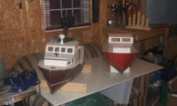 Fiberglass Cape ISland Hobby Boat 1 Fiberglass Cape Island Boat 42 in long x 14 in Red one in picture, other is sold $150.00   595-0382
