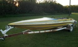 Fast fiberglass Jet Boat with a 350 Chevy engine.  Sleman Racing haul. Runs good. Very fun boat to drive. Excellent fixer upper project.