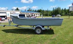 """15"""" Oyster Dory's 55"""" Transom, Long or Short, Custom Build Interiors Your Choice of Color. For more Informatiion please contact DENNIS MOTORS 833 ELLERSLIE PEI C0B 1J0 902-831-2229 Call / Text Jeff 902-439-2391C Brian 902-439-5405C Ask about our package"""