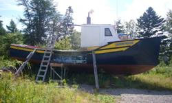 33' Boat for sale used for lobster fishing. 135 Ford Senator, asking $6500.00 O.B.O.
