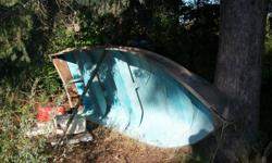14 foot Aluminum Boat, With 15 horse motor motor has not been ran in a while, but ran well before storage