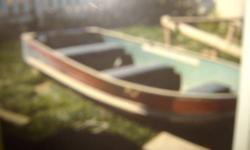 We have a 12 foot fishing boat for sale BOAT ONLY . It is a peterbough car topper deep hull , no leaks , padded benches  and will seat 5 adults very comfortable . Can handle up to a 15 horse motor . In very good shape . Taking offers