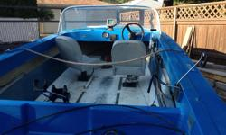 fishing boat 15' in very good condition , two seats , fish finder , holders for fishing rods , trailer , no motor .