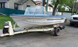 I am selling a decent fishing boat manufactured by Anchor Industries that was in Brandon MB. Not sure of year of the boat but is 14' long with a 1973 Chrysler 35HP engine and also have a 1979 Chrysler 55HP engine, battery, one gas tank and decent homemade