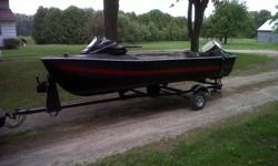 14 ft mirocraft with15hp evinrude and explorer trailer new lights rewired boat has console fish finder life jackets paddles two new seats new prop motor serviced starts first pull drop in water and go please call James at 519 998 4849 asking $1800 This ad