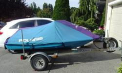 1995 Polaris SLT 750. Original owner. Garage-stored since new. 99% freshwater use. Brand new battery installed July 2011. Engine has run problem-free since new however, cracked piston as of July 2011. Comes with EZ-Loader trailer. $1,000 OBO. Please
