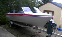 For sale a 17 ft glastron boat with a 150 horsepower outboard motor. Motor just checked over and runs great just winterized for the season. Seats 6 closed bow. New stereo. Trailer is a single axle tilt trailer good shape. Has power tilt and lots of