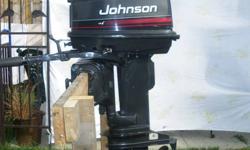 For sale 1995/96 Johnson 20 Hp. Total rebuild crank rod bearings water pump contact Dan 577-7579 after 5 pm.