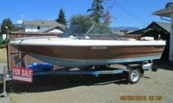 17ft. boat with 70hores power motor, comes with trailer.needs some t.l.c.