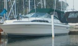 FOR SALE   GOOD CONDITION 1986 Searay 270 Sundancer, 29 foot 10 inches overall length, 10 foot beam with aft cabin; in good sound and running condition engines and drives professonly maintained and winterized yearly can sleep up to six people twin