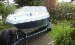handyman special. in board motor, as you can see, boat looks great but has a crack block.still runs pretty good the way it is. i think it has a volvo 4cyl 135 H.P. engine in it so could possible use volvo block.in any event i'm asking $2500.00 O.B.O. i