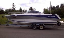 Full Cuddy, Kitchen, Fridge, Fresh water cooled, 5.7LE OMC King Cobra, aprox 460 hours. Fresh water boat purchased out of Barrie, Ontario last summer. Used for 3 weeks in August . Job promotion makes it impossible to enjoy it they way it has been set up..