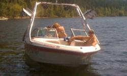 Low hrs (under 100) 4.3L merc. with Roswell tower and Skylon speakers. Or trade for pontoon boat of equal value. This ad was posted with the Kijiji Classifieds app.