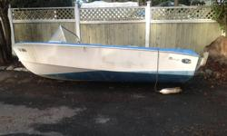 15ft. fibreglass runabout boat. Comes without motor and needs repair, but hull looks sound. Does not come with a trailer. This was a project I was going to repair but I am moving and have no time to complete it before I go.