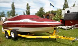 Summer fun on the lake with a very well equipped 2007 very nice condition 8 person Glastron 185 GXL bowrider. Recent tuneup and always well taken care of with a very fuel efficient 4.3L GL Vortec V6 195hp volvo penta inboard / outboard and a stainless