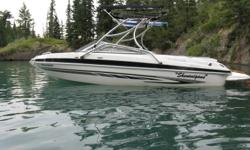 2008 Glastron 225 Open Bow White/ Black & Silver Graphics Asking only 28,500.00 O.B.O. 5.0 ltr mercruiser E.F.I, stern drive, 4 fin SS prop. And stock prop.(3 fin aluminum) Walk through transom with full rear sundeck. Very fun and fast, excellent for