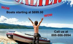 Boats starting at $699.00 Great for that get a way camping, fishing, hunting or just soaking up the sun trip to the most remote lakes, rivers or the waters of the ocean. She can be stored in the trunk of your car or the storage compartment of a camper, So