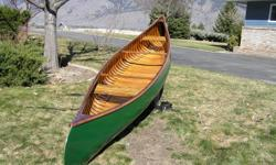 16' Greenwood Prospector special, 1973 vintage, Complete quality restoration just completed, includes new canvas, very nice interior patina, 250-573-1206