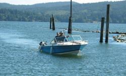 1981 Grew model 1850 I/o boat . Mercruiser 470 fresh water cooled engine . 1998 Alpha one leg . 2002 Eze-loader trailer model EZL96B 17-20 3100H1X . Older (1980's) 5 h.p. Honda outboard kicker. Canvas coverings original , new storage cover
