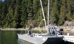 "Herring Skiff, 26'6' x 8'6"" aluminum punt with mast & boom, winch, powerpack (needs tlc) Great solid workboat, no leaks, no motor"