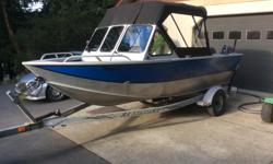 16.5ft HEWESCRAFT Sportsman. 60hp Yamaha (490hrs mostly trolling). 4hp Yamaha (10hrs). New canvas. Lowrance. Scotty electric down riggers. Safety gear.