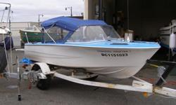 Older Hourston fiberglass boat for sale. Can be viewed at P Y Marine on 3rd ave in Port Alberni. Comes with 2006 Ubilt trailer. No motor. Transom beefed up with aluminum plate for 20 inch leg. $950 obo