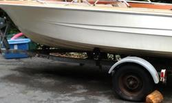 15'6 Runabout, 70 HP Johnson, inspected this spring and had $1000 worth of work on the motor. comes with trailer, fish finder/depth sounder and marine radio, plus two portable gas tanks