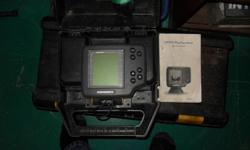 fish finder and also depth sounder, 12 volt powered can be mounted stationary or portable