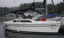 1994 Hunter 26 Water Ballast Sailboat (currently in a slip at Gull Harbour on Hecla Island ? 2 hrs. north of Winnipeg) ·        Easy to tow, launch, and sail ·        Very roomy for a boat of this length ·        Excellent choice for family outings
